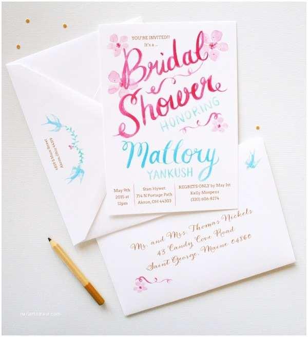 Custom Bridal Shower Invitations Unique Bridal Shower Invitations