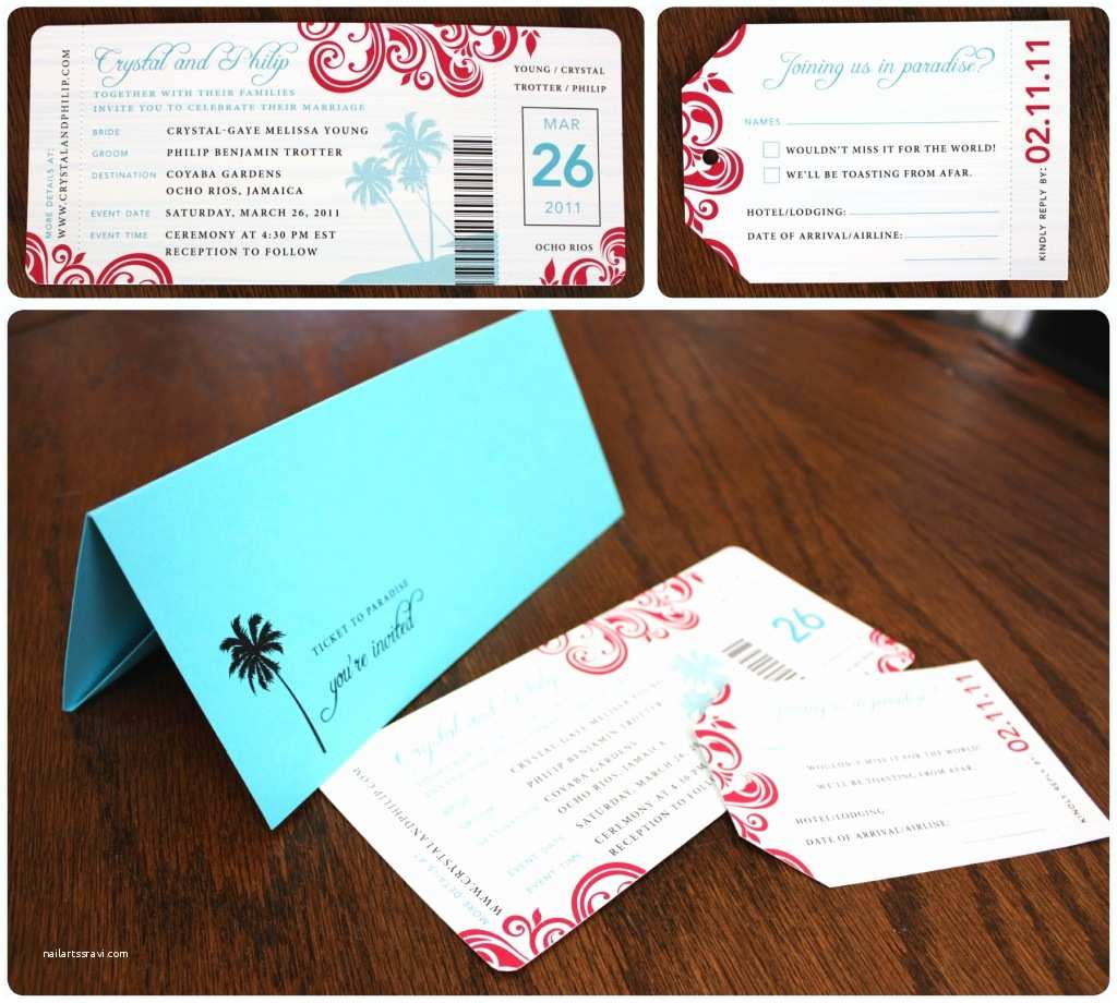 Custom Designed Wedding Invitations 57 Elegant Boarding Pass Destination Wedding Invitations