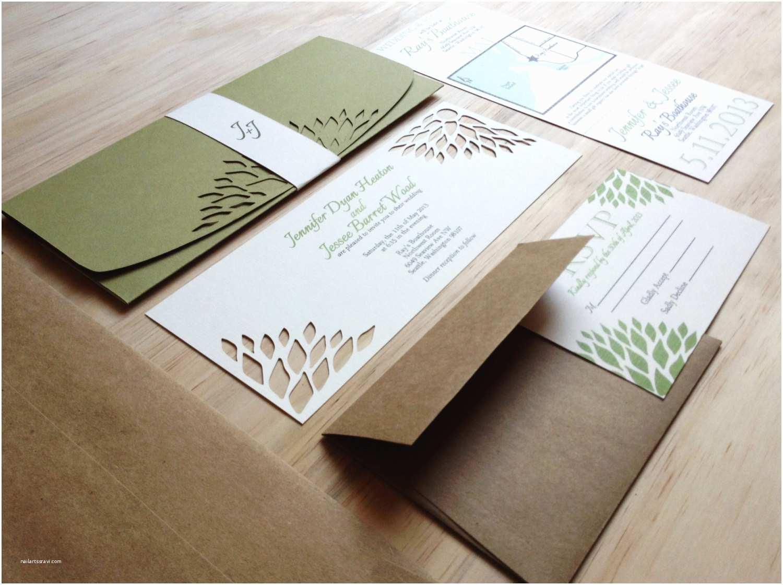 Custom Designed Wedding Invitations Simple Elegance Wedding Invitation Handmade Wedding