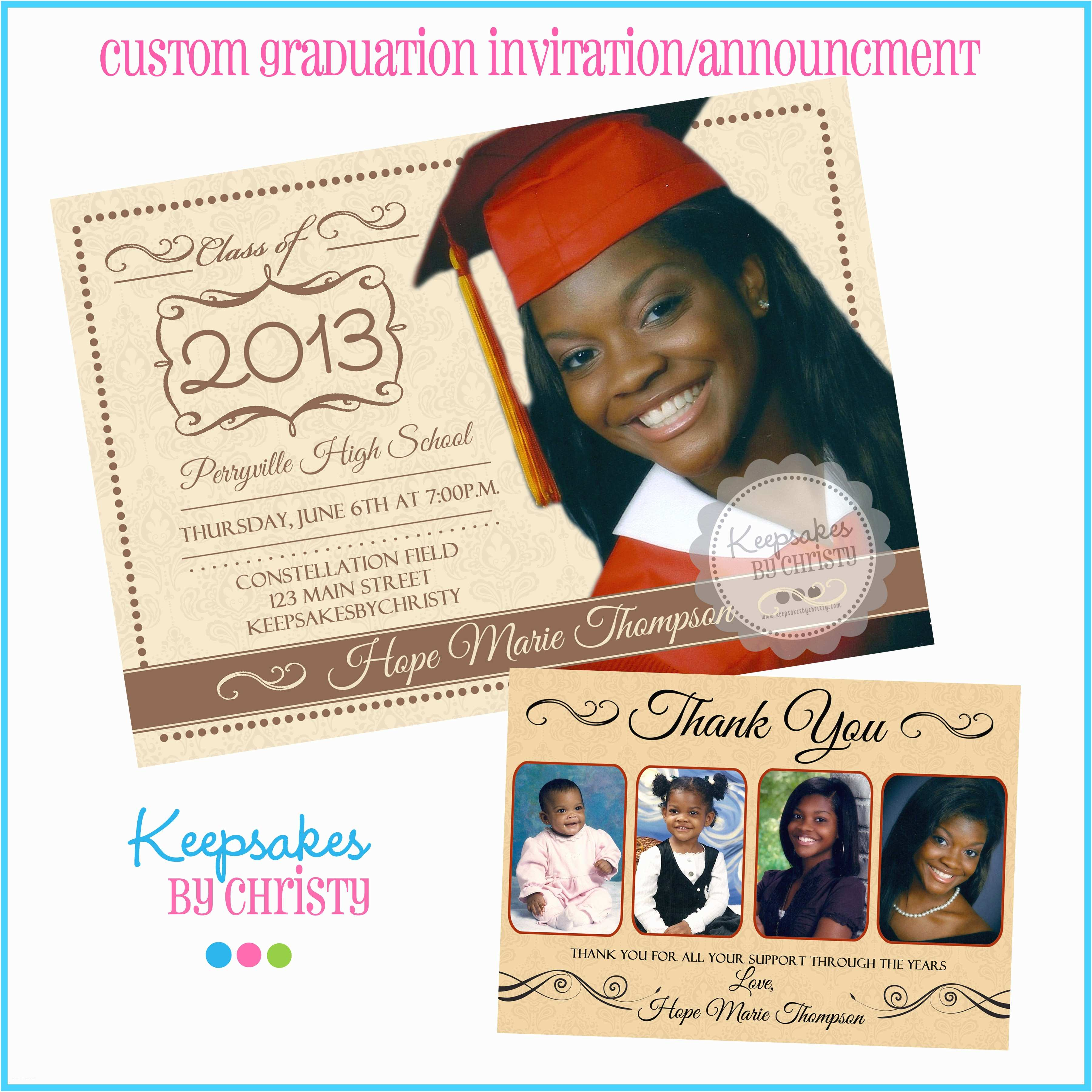 Custom Graduation Invitations Personalized Graduation Invitations Invitation Librarry