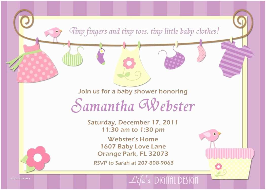 Custom Made Baby Shower Invitations Baby Girl Shower Invitations Free Printables