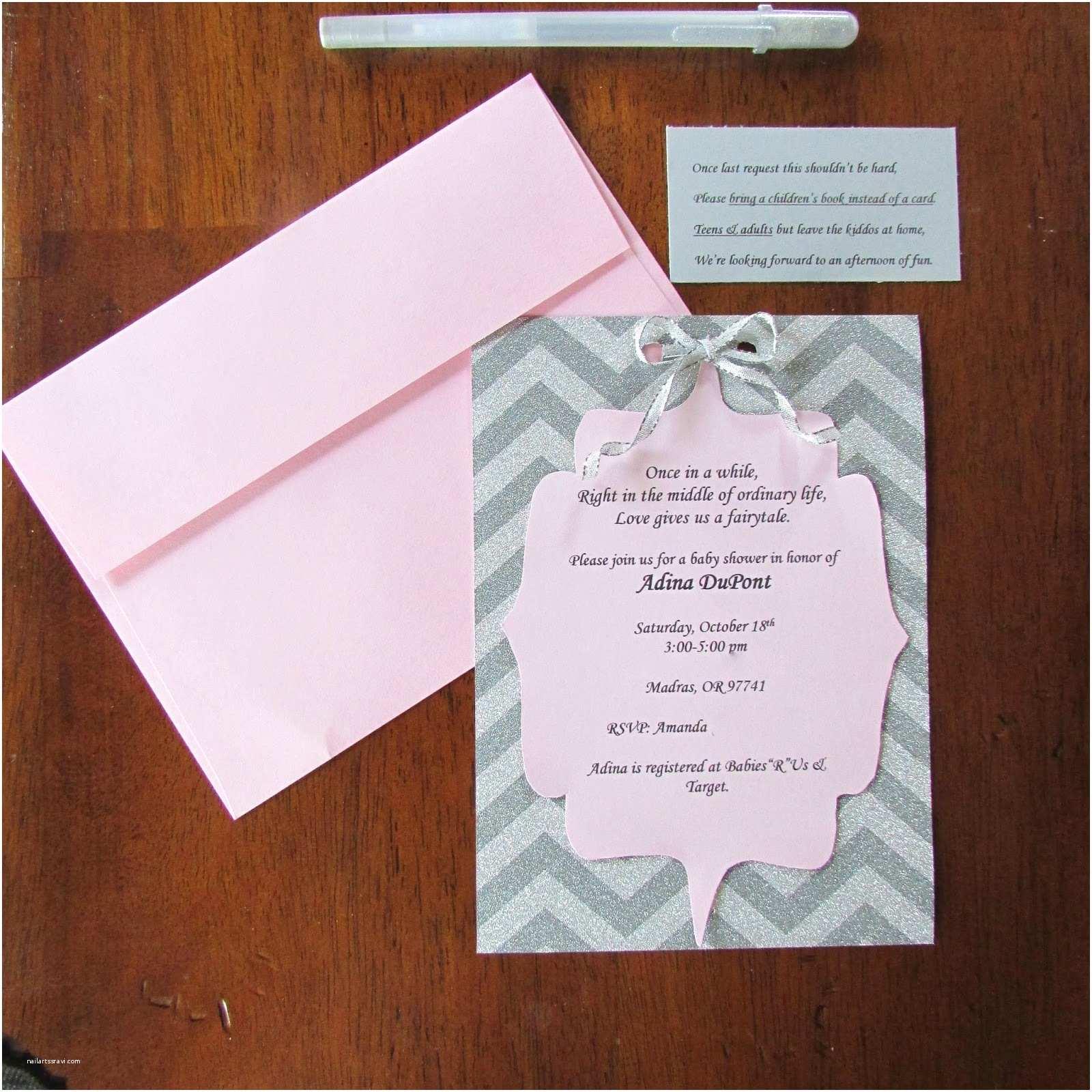 Custom Made Baby Shower Invitations Cardstock Baby Shower Invitations