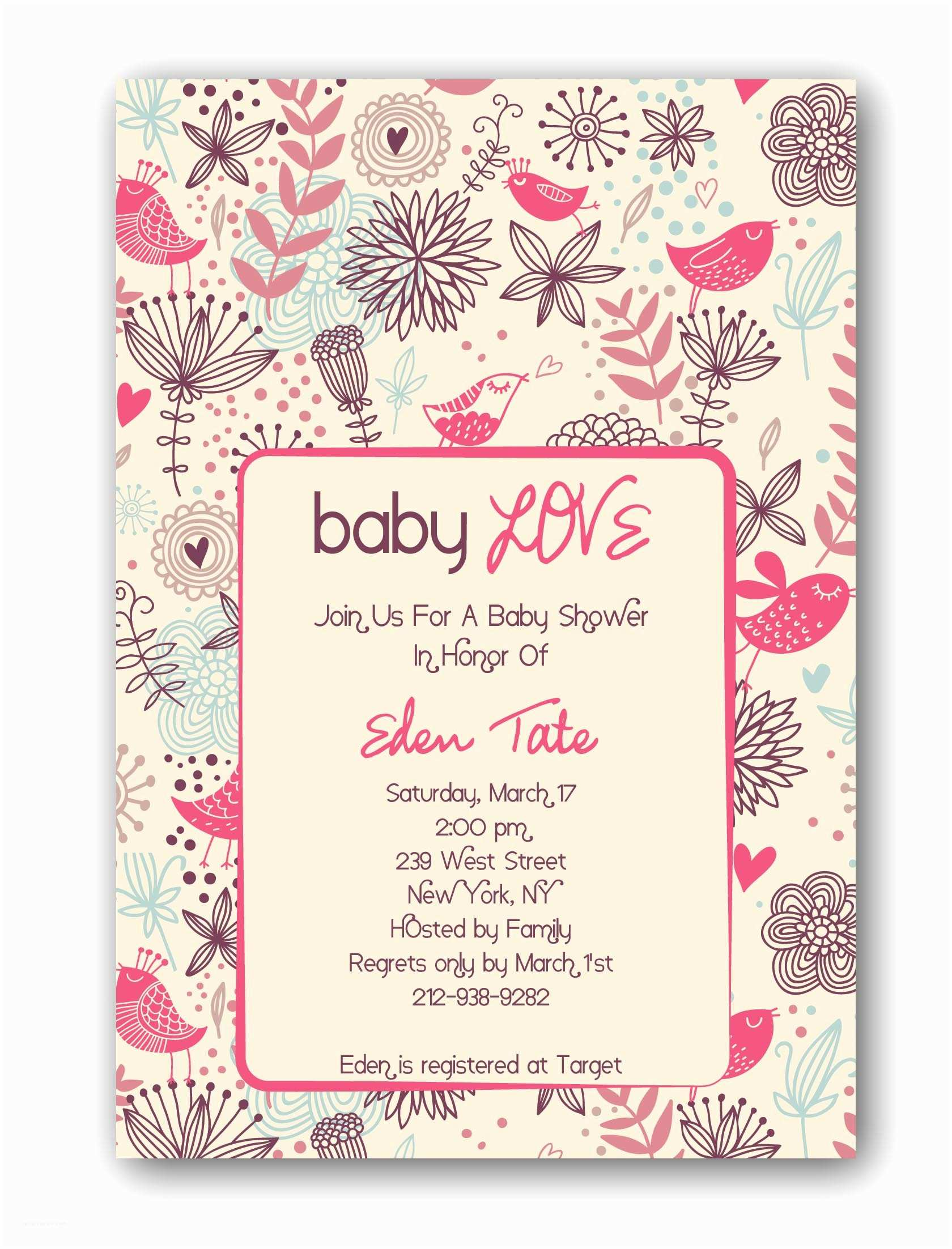 Custom Made Baby Shower Invitations Custom Baby Shower Invitations Free