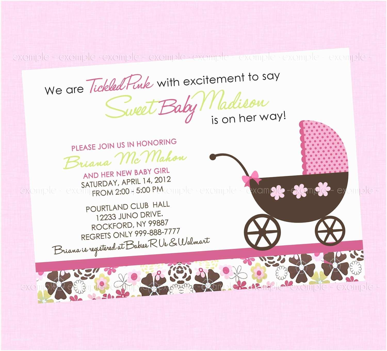 Custom Made Baby Shower Invitations Great Design Baby Shower Sayings for Girl Best Home