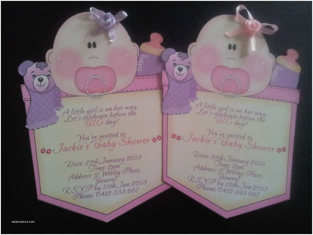 Custom Made Baby Shower Invitations Invitations Unique Baby Girl Shower Invitations