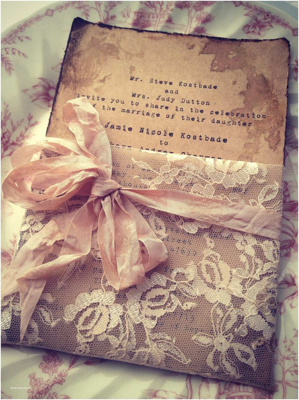 Custom Made Wedding Invitations Lace Invitation High End Handmade Wedding Bridal Shower