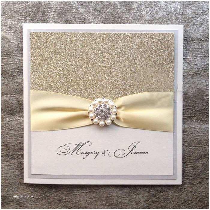 Custom Made Wedding Invitations Silver Glitter Wedding Invitations