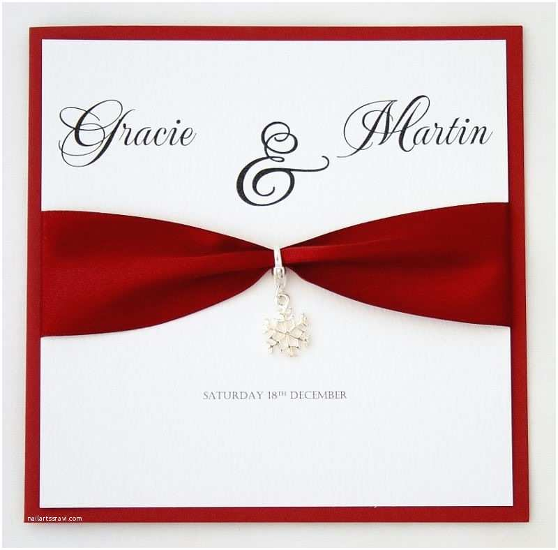 Custom Made Wedding Invitations Snowflake Invitations Josephine Handmade Wedding