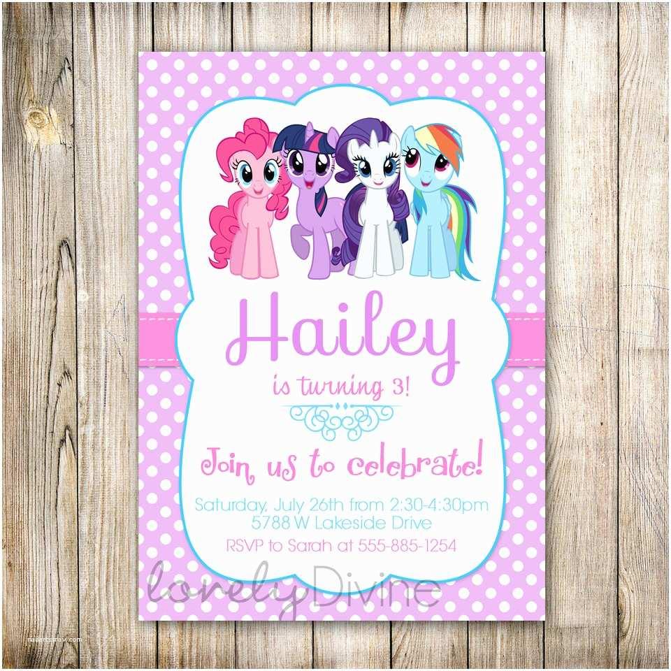 Custom Party Invitations My Little Pony Personalized Birthday Invitations