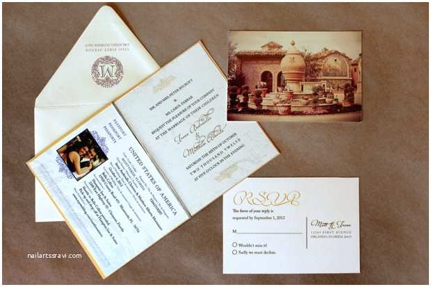 Custom Passport Wedding Invitations Blush by Brandee Gaar – orlando and Tampa Florida Wedding