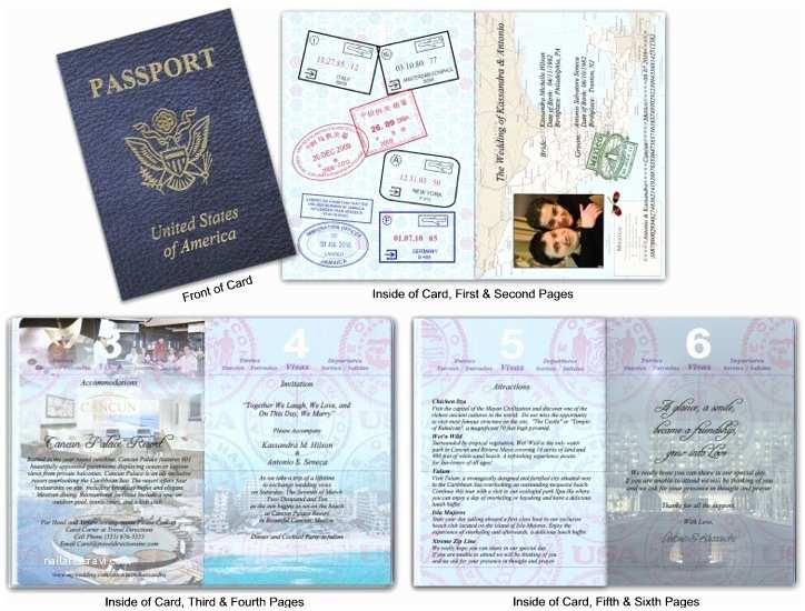 Custom Passport Wedding Invitations Custom Passport Invitation Cards