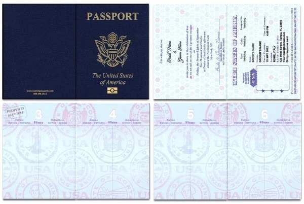 Custom Passport Wedding Invitations Custom Passport Invitations West Creek Nj Wedding