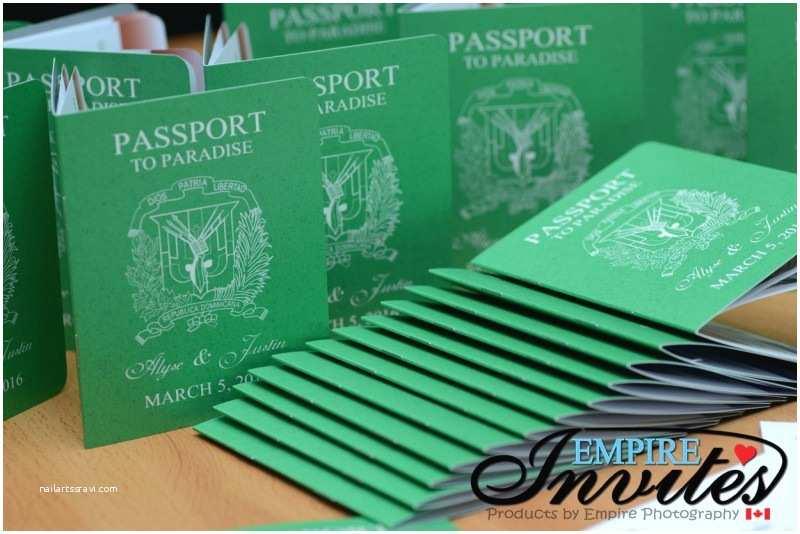 destination passport wedding invitations 3 4x5inch 10 page
