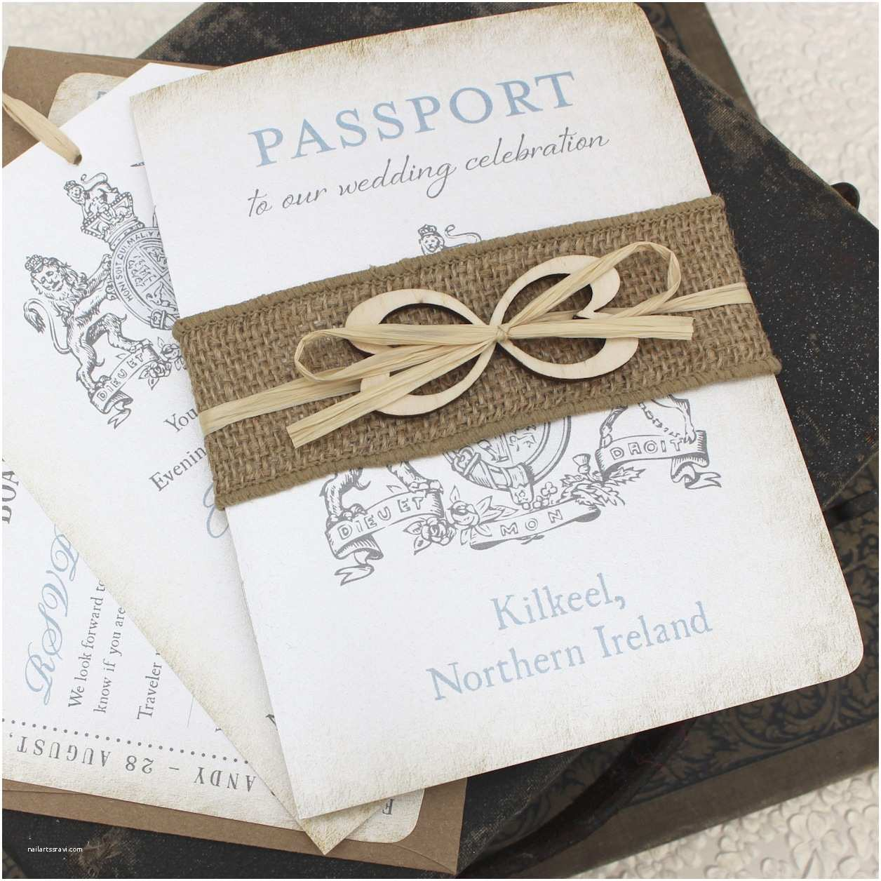 Custom Passport Wedding Invitations Ireland Passport Wedding Invitation Passport Wedding