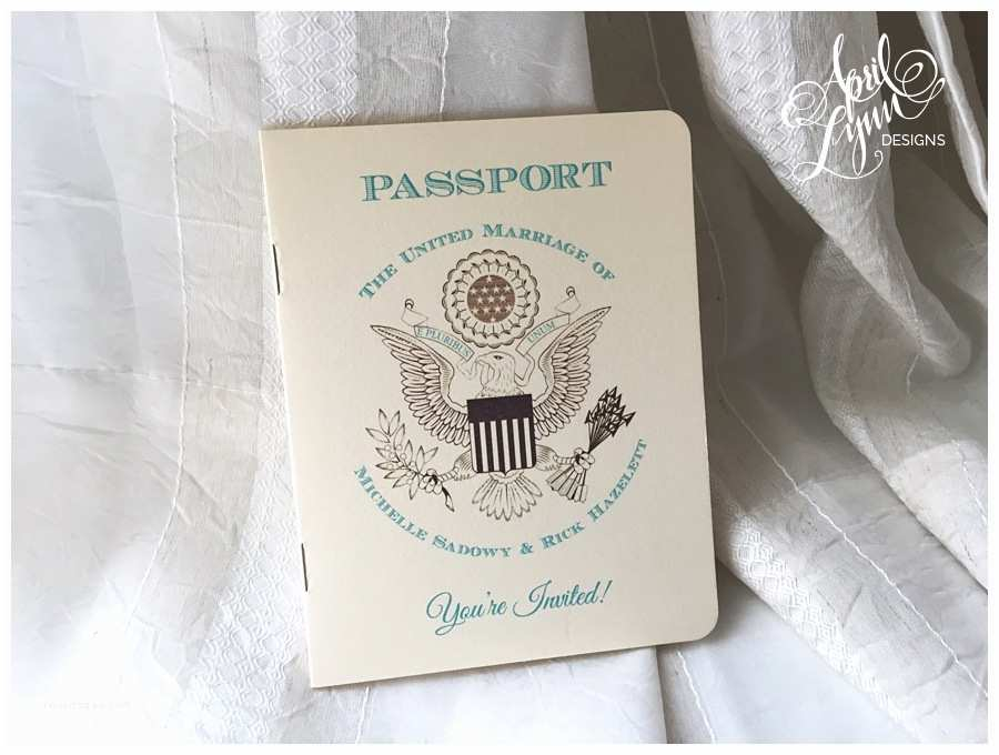 Custom Passport Wedding Invitations Michelle Rick S Passport Wedding Invitation Suite