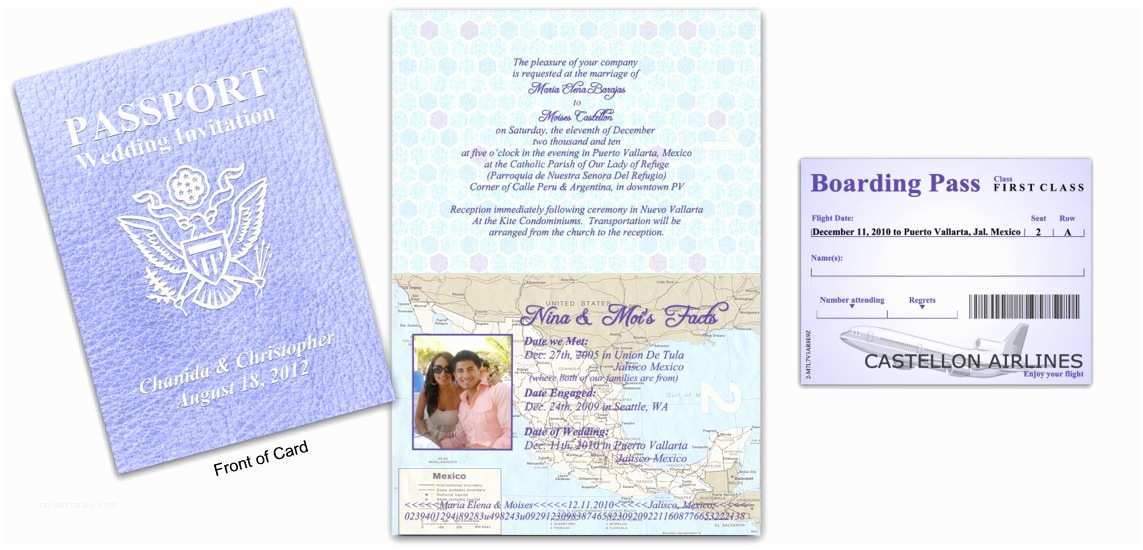 Custom Passport Wedding Invitations Passport 11 Destination Wedding Lavender Custom