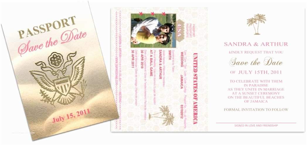Custom Passport Wedding Invitations Passport 30 Wedding Save the Date Custom Passport