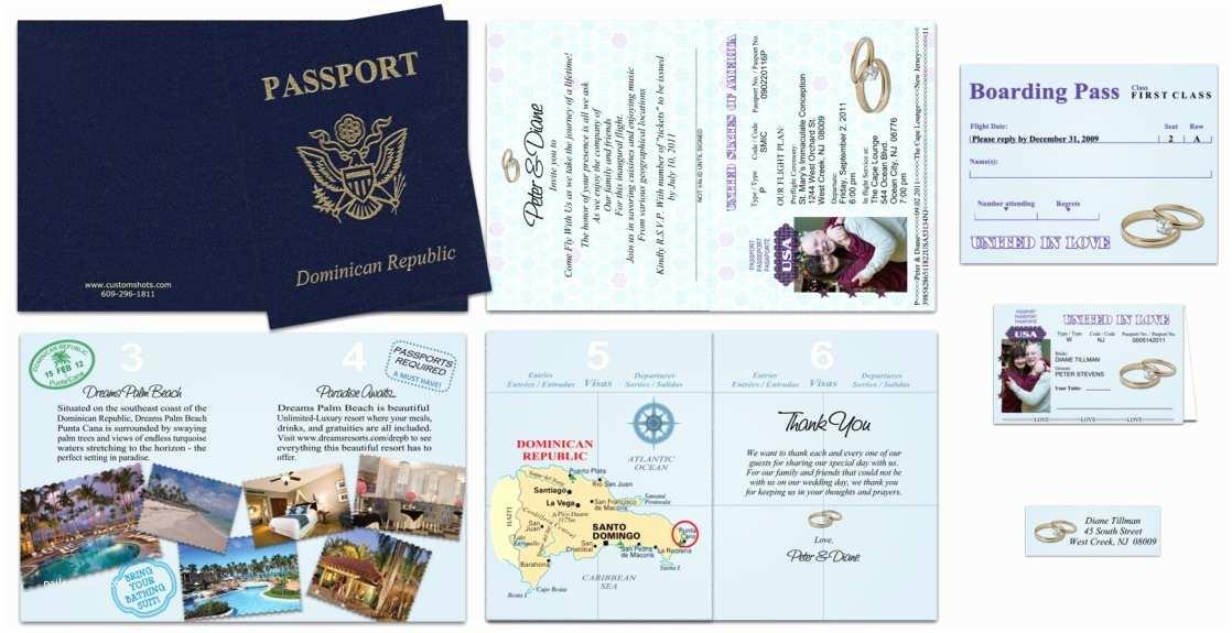 Custom Passport Wedding Invitations Passport 37 Gold Rings Custom Passport Invitations