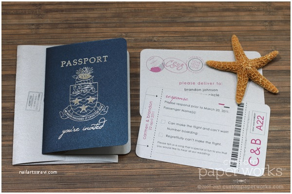 Custom Passport Wedding Invitations Passport Gallery – Custom Paper Works