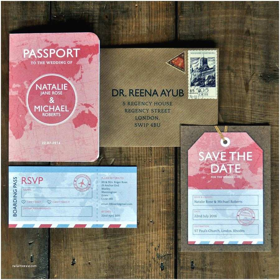 Custom Passport Wedding Invitations Passport Wedding Invitation