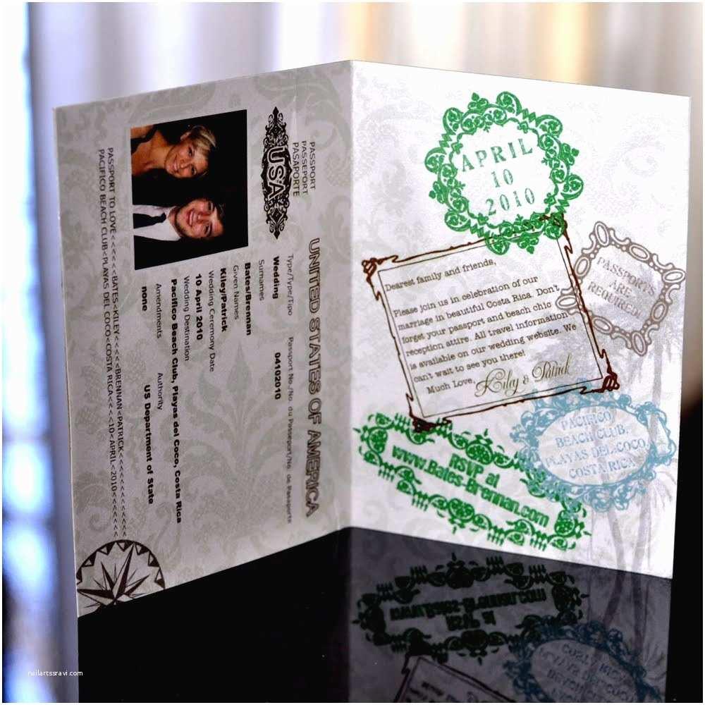 Custom Passport Wedding Invitations Sproullie Designs Custom Passport Invitations