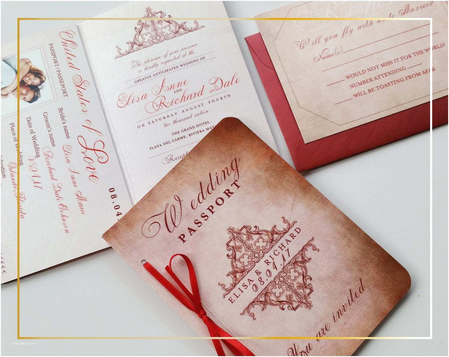 Custom Passport Wedding Invitations Vintage Passport Wedding Invitation Wedding Invitation