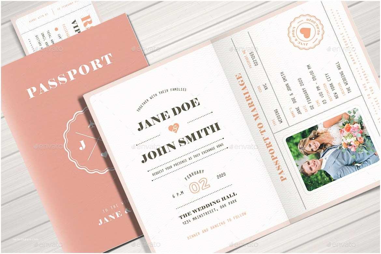Custom Passport Wedding Invitations Wedding Invitation Templates Passport Wedding Invitation