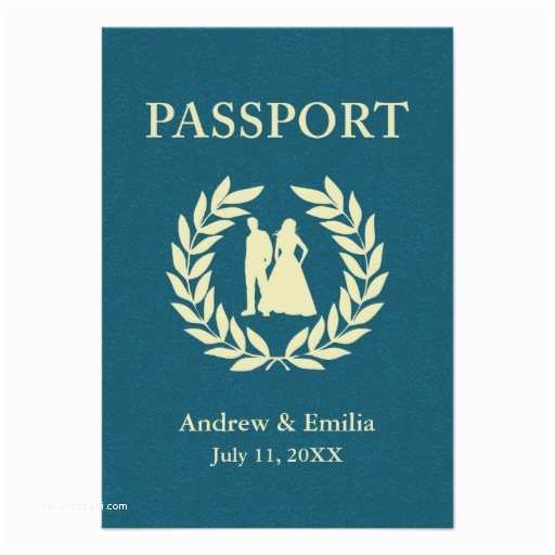 Custom Passport Wedding Invitations Wedding Passport Personalized Invitation