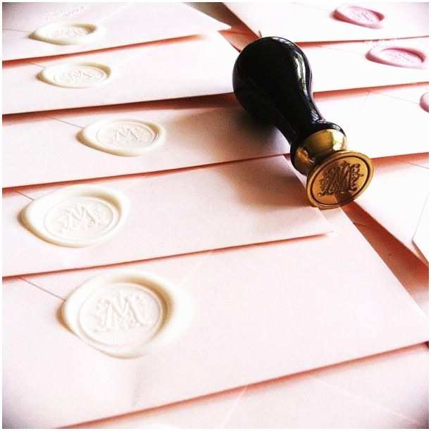 Custom Seal And Send Wedding Invitations A Personalized Wax Seal To Your