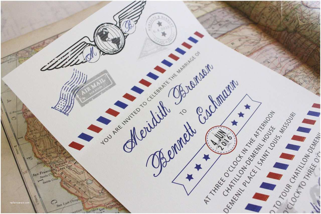Custom Seal And Send Wedding S Air Mail Seal And Send Wedding