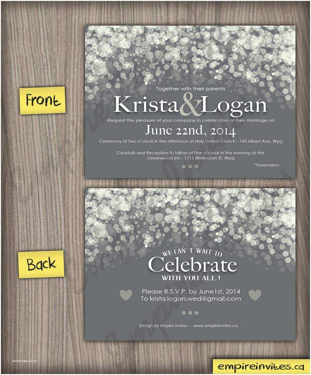 Custom Seal And Send Wedding Invitations Custom Champagne Bubble Wedding Invitations From