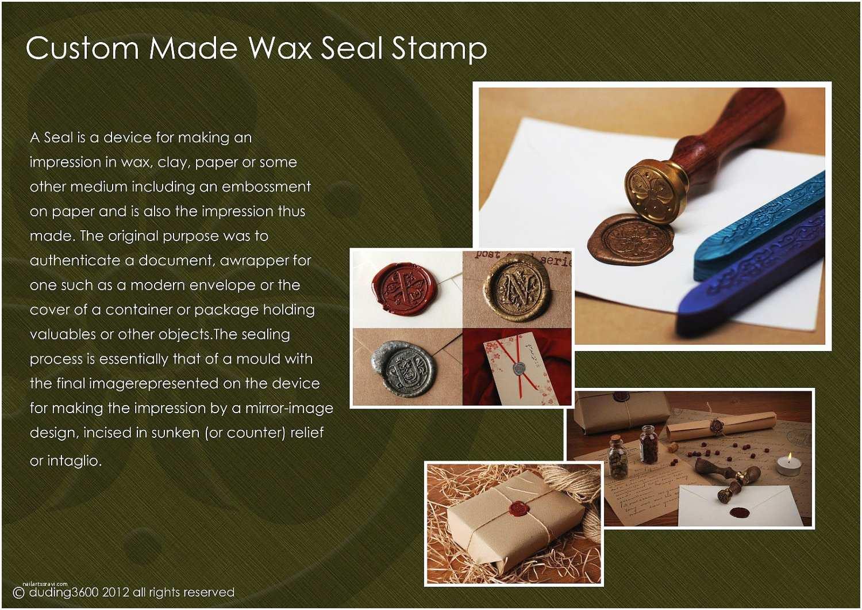 Custom Seal and Send Wedding Invitations Custom Classic Wax Seal Stamp Wedding Invitation Letter Card