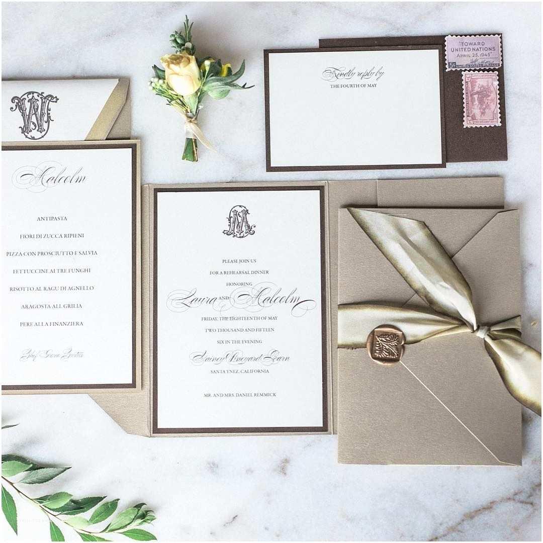 Seal And Send Wedding Invitations Elegant Neutral Wedding Invitation Suite With