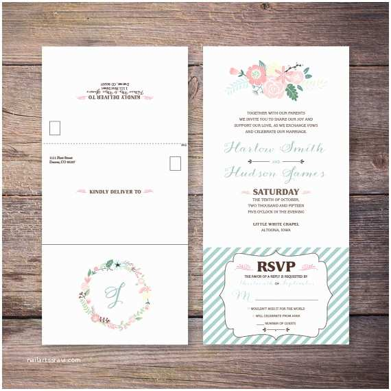 Custom Seal And Send Wedding  Inexpensive Seal And Send Wedding