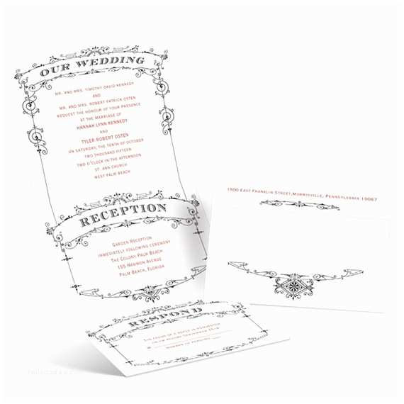 Custom Seal and Send Wedding Invitations Save Time and Money with these Unique Seal and Send