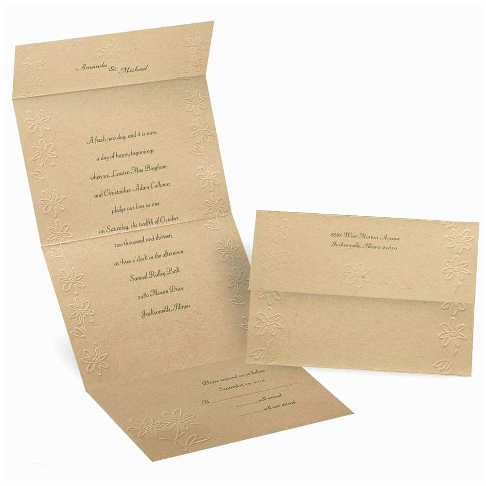 Custom Seal and Send Wedding Invitations Sealed with Love Seal and Send Invitation