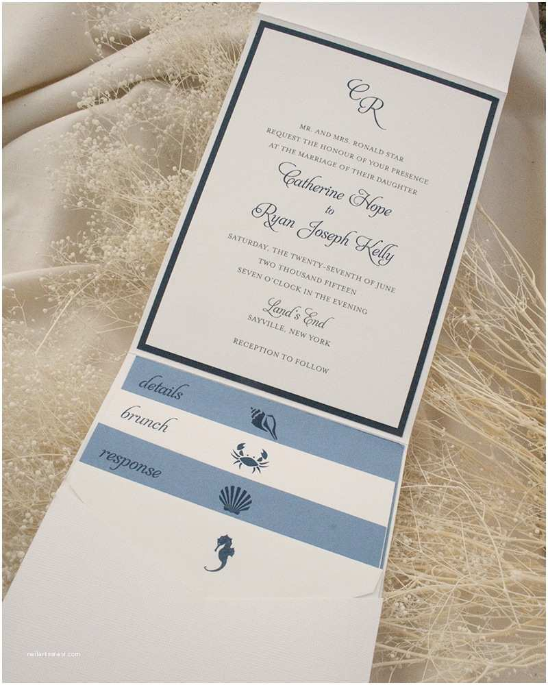 Custom thermography Wedding Invitations Catie Ryan Fat Cat Paperie