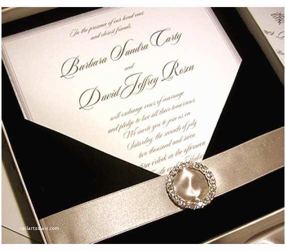Custom thermography Wedding Invitations Custom Wedding Invitations Black Tie