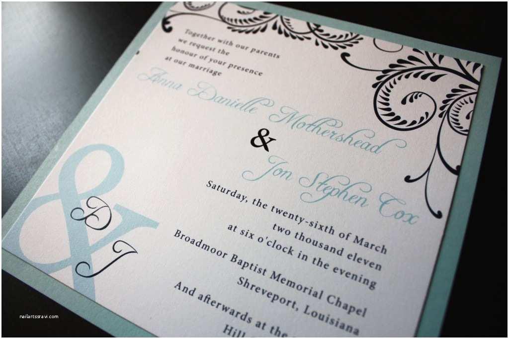 Custom Wedding Invitations August 2012
