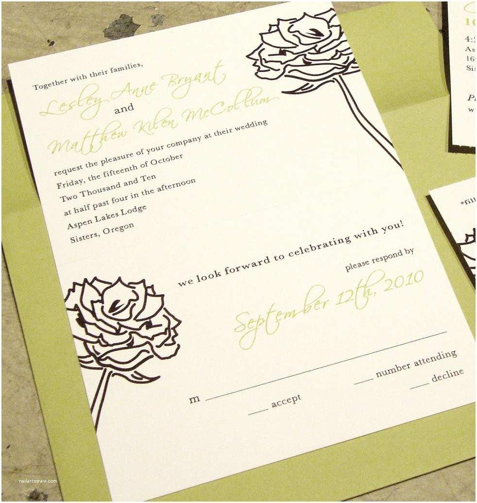 Custom Wedding Invitations [custom Wedding Invitation] Tear Off Rsvp Postcard
