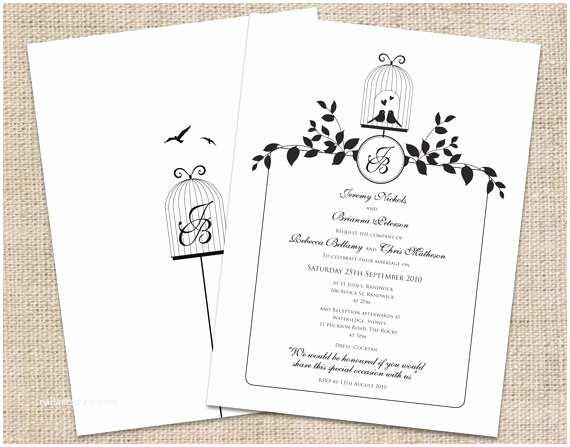 Custom Wedding Invitations Online Love Bird Wedding Invitations Template Resume Builder
