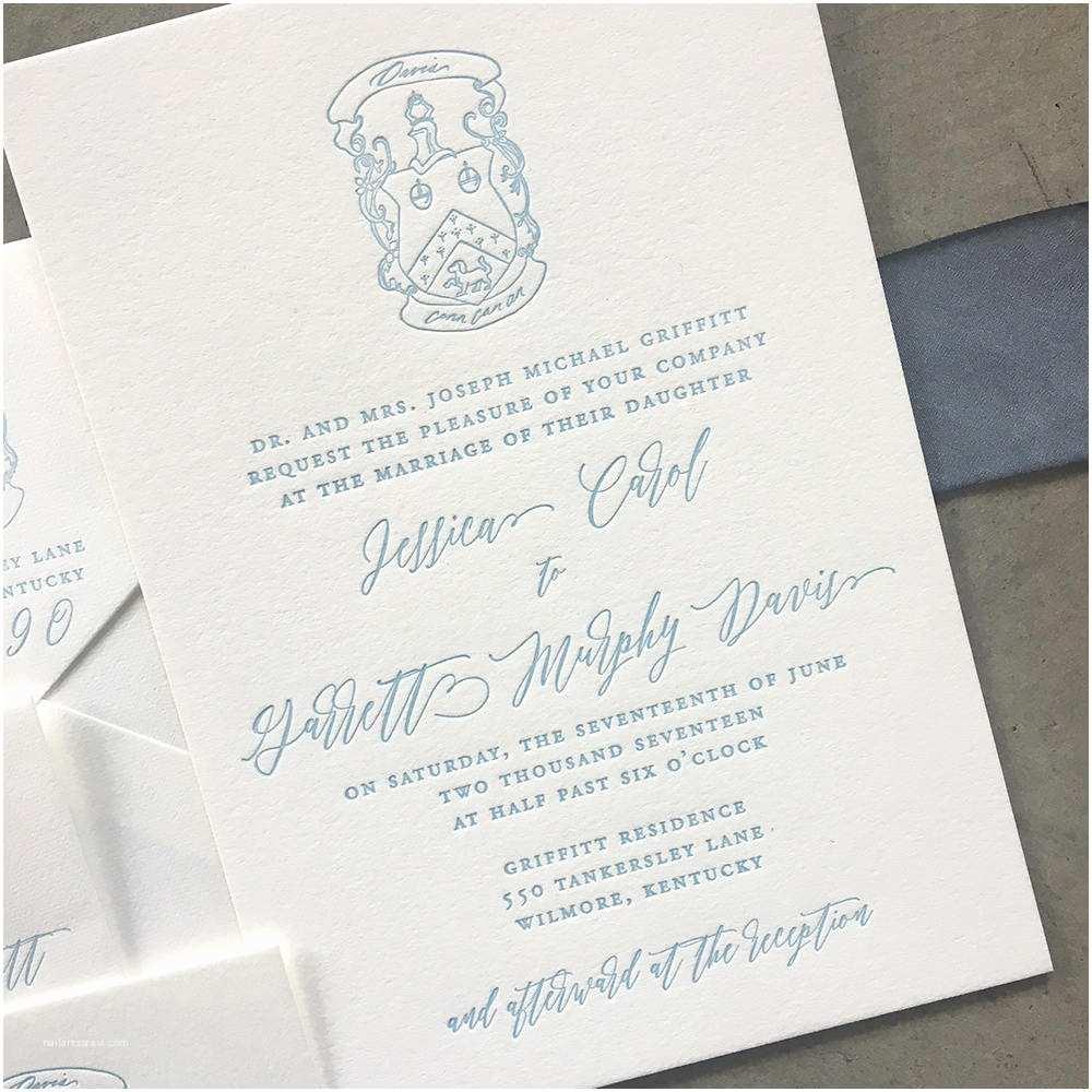 Custom Wedding Invitations Sample Custom Crest Wedding Invitations Cardinal and Straw