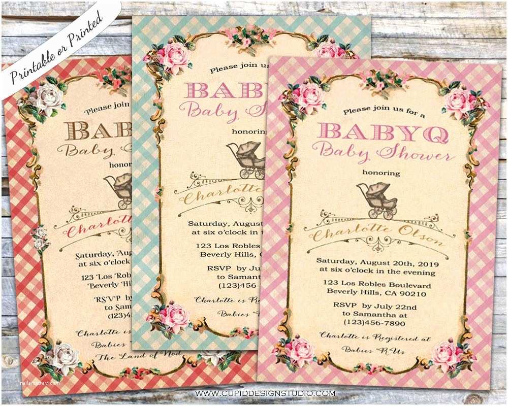 Customizable Baby Shower Invitations Bbq Baby Shower Invitations Personalized Printable or