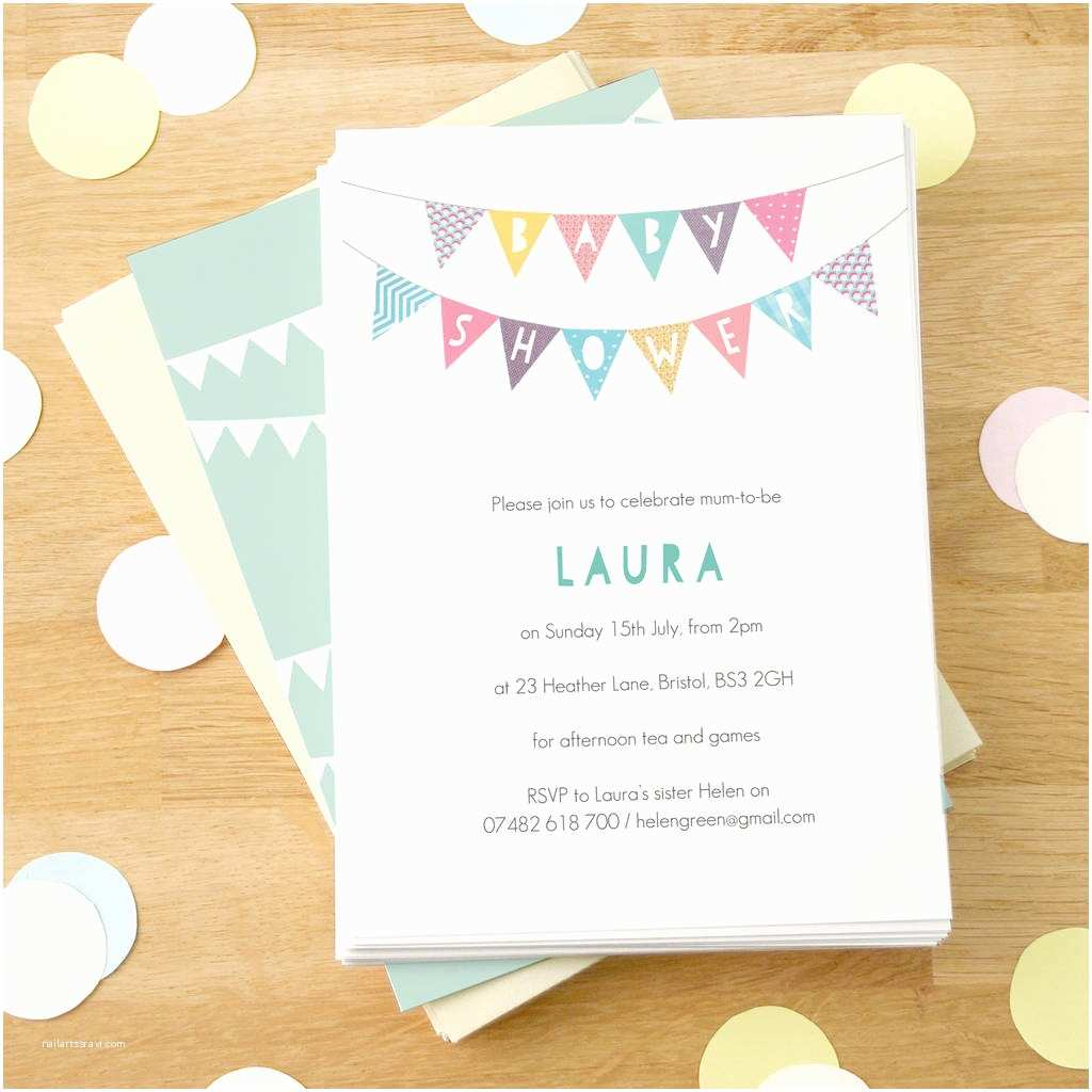 Customizable Baby Shower Invitations Cheap Personalized Baby Shower Invitations Image