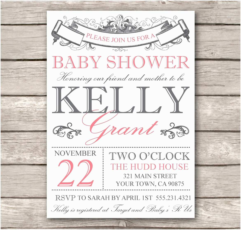 Customizable Baby Shower Invitations Vintage Baby Shower Invitations Template Resume Builder