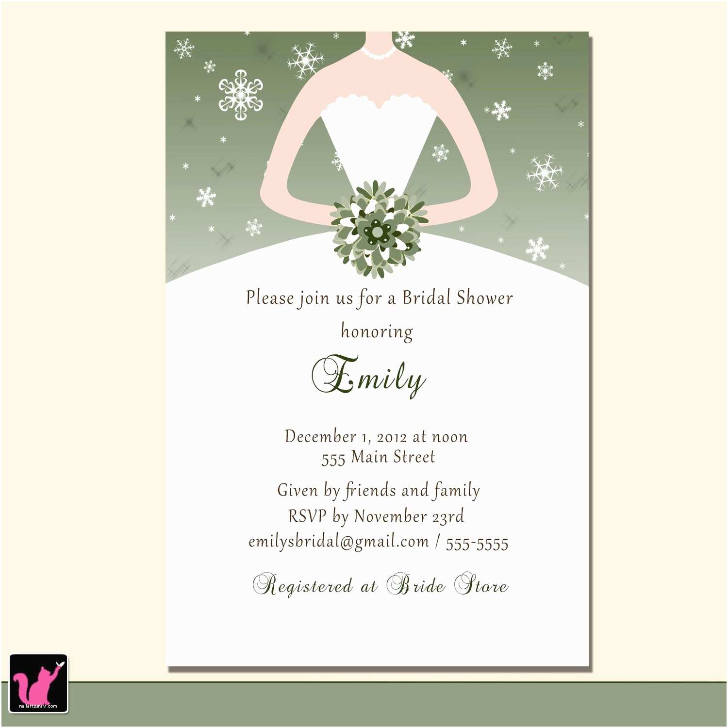 Customizable Wedding Invitations Bridal Shower Invitations Custom Bridal Shower