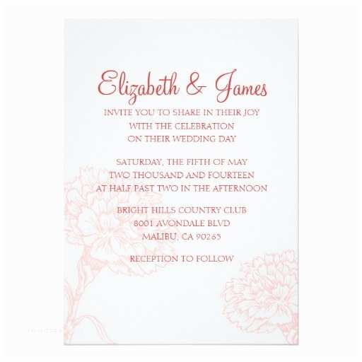 Customizable Wedding Invitations Custom Modern Red Wedding Invitations