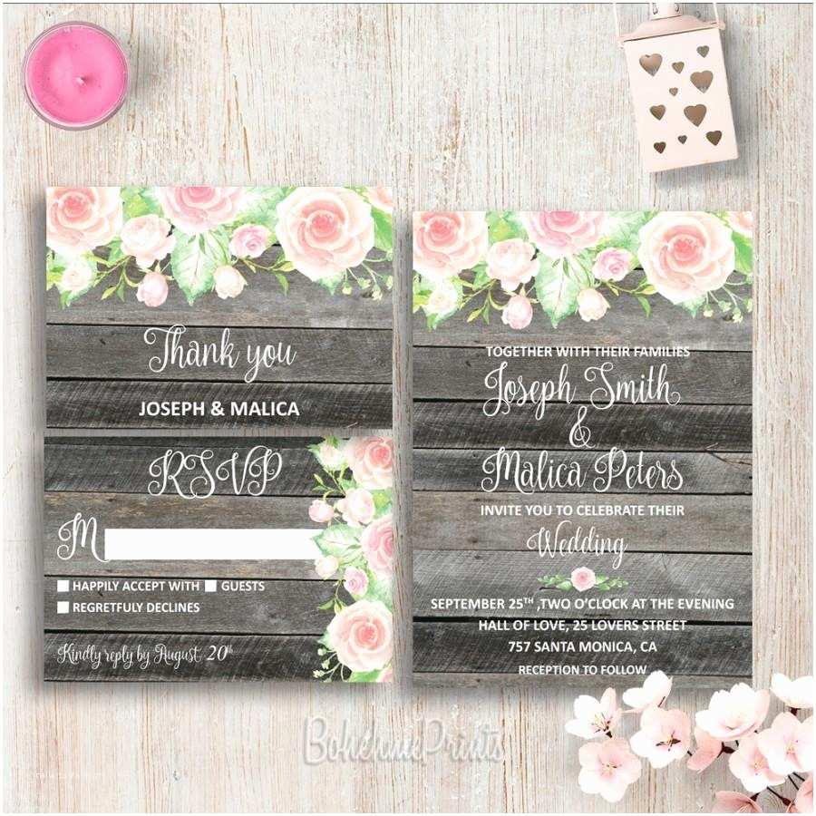 Customizable Wedding Invitations Printable Wedding Invitation Suite Diy Wedding Invitations