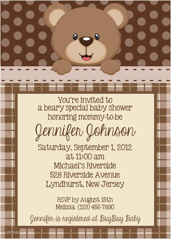 Customized Baby Shower Invitations Teddy Bear Invitation Personalized Custom Teddy Bear