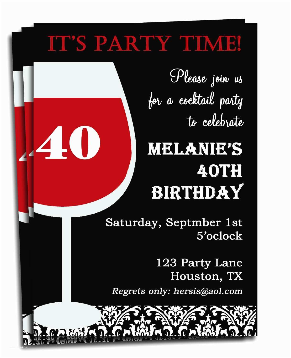 Customized Birthday Invitations Birthday Invitations for Adults